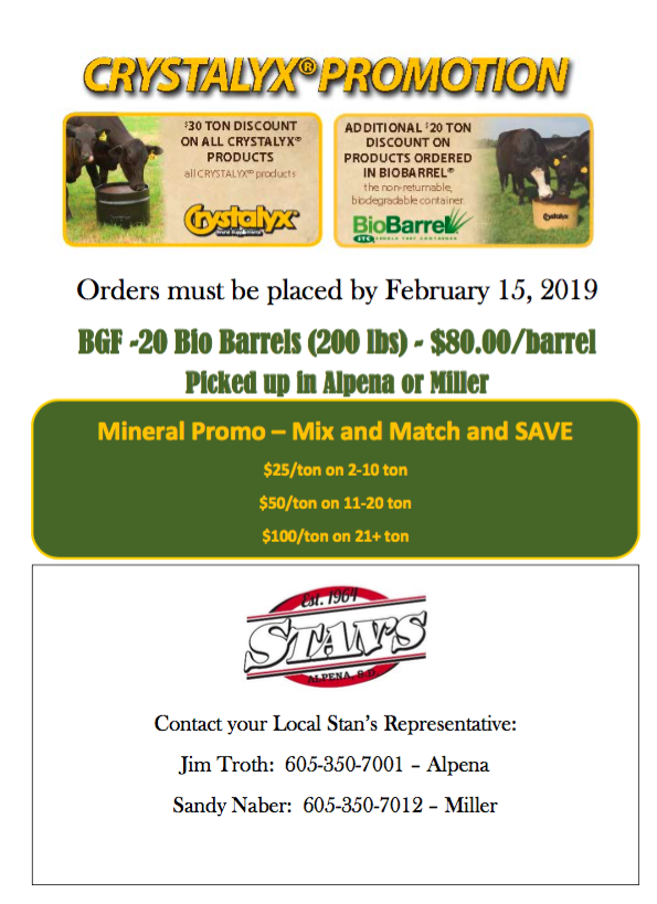 Stan's March Flyer
